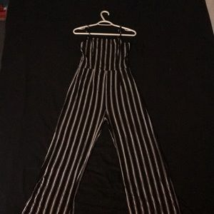 Black and white curvy jumpsuit